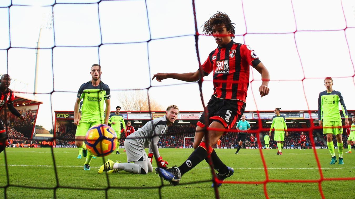 Nathan Ake goal, Bournemouth v Liverpool, 041216