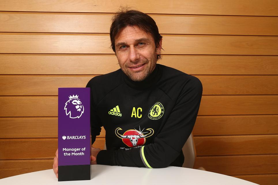 Antonio Conte, Barclays Manager of the Month