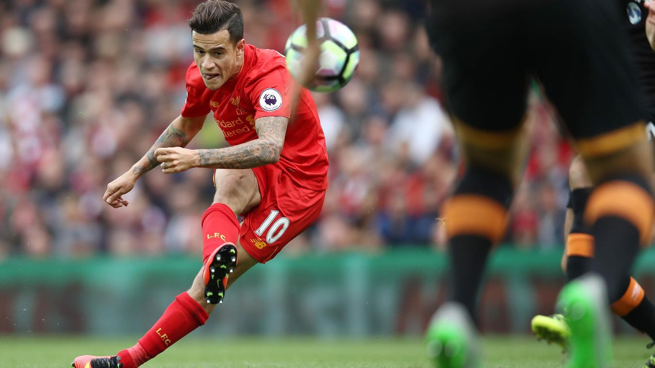 Liverpool v Hull City - Premier League, Coutinho goal, September 2016