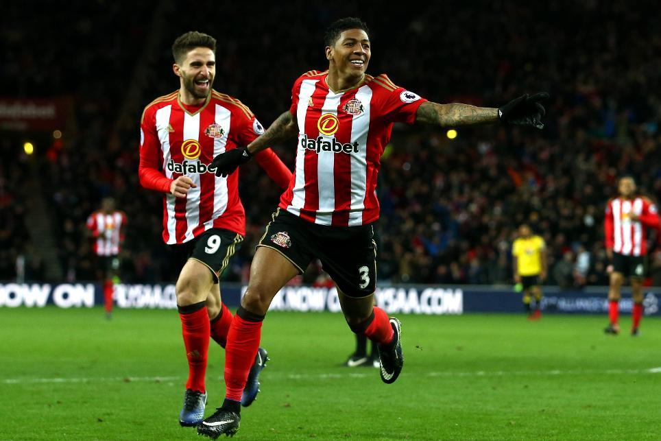 Sunderland v Watford - Premier League, Van Aanholt goal cele, 171216
