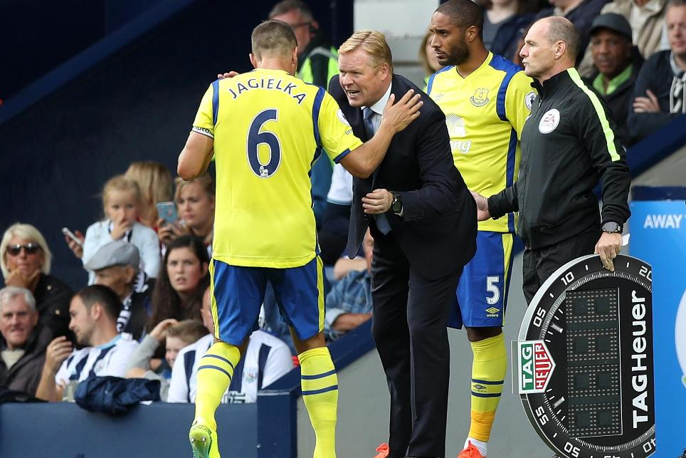 Ronald Koeman and Phil Jagielka, Everton