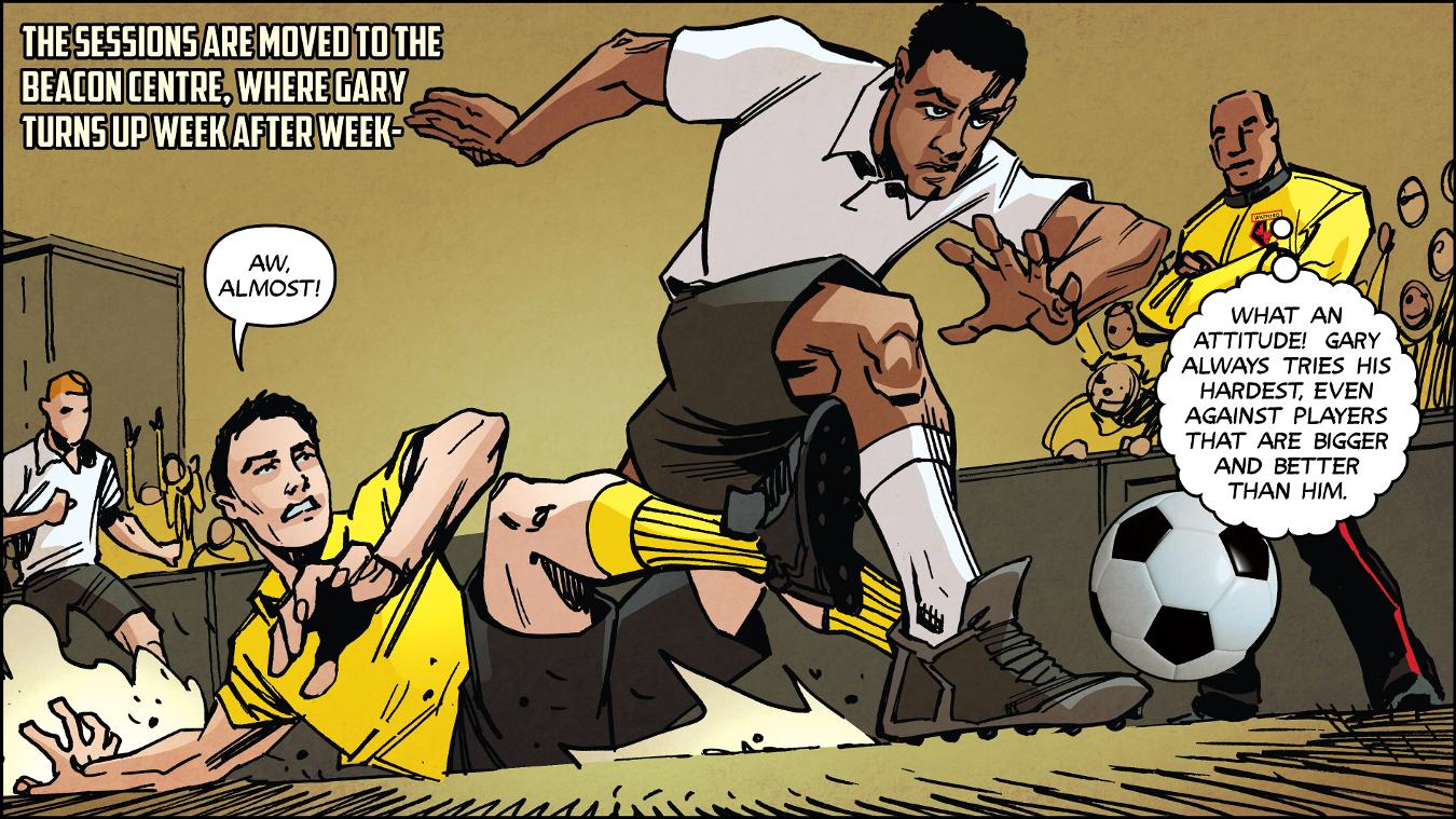 Premier League Kicks Hero, Gary Smith, 240117, Watford, comic strip