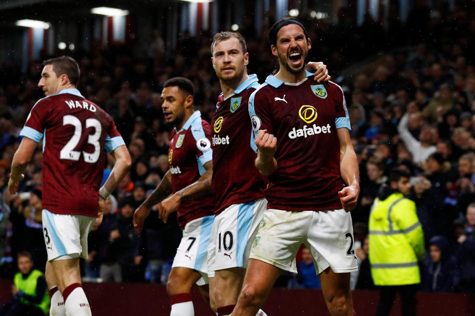 Burnley's George Boyd celebrates scoring their third goal