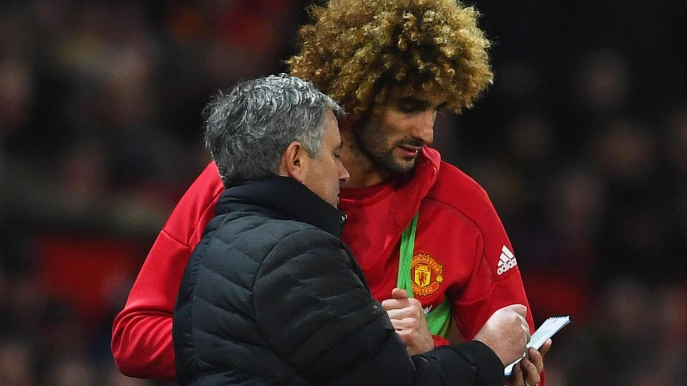 Marouane Fellaini and Jose Mourinho, Manchester United