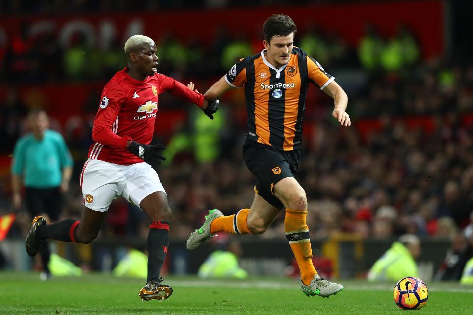Hull's Harry Maguire in action