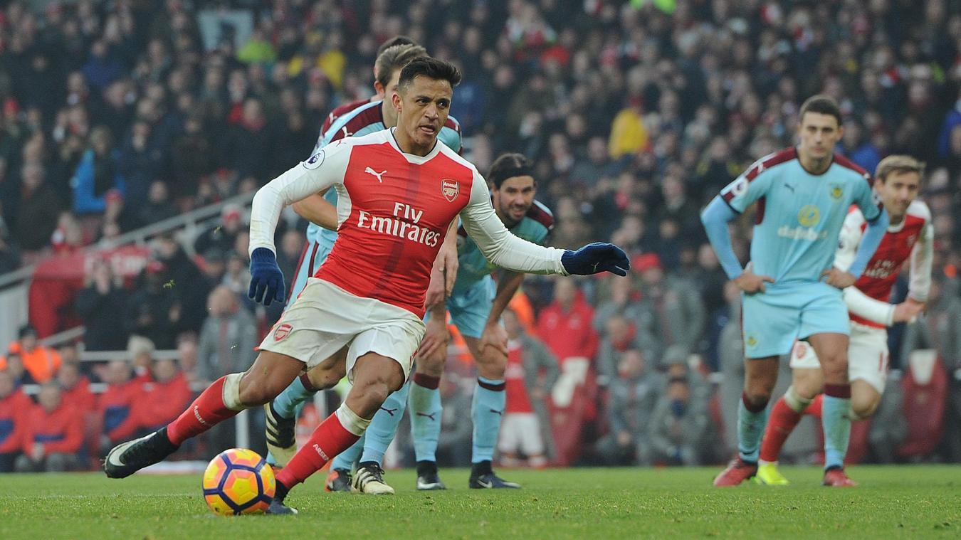 Arsenal v Burnley, Alexis Sanchez scores