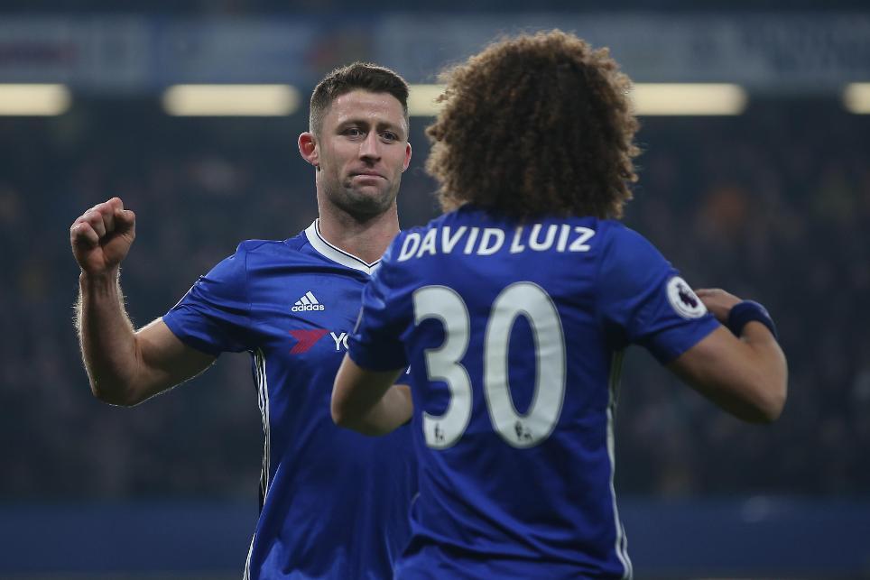 Gary Cahill and David Luiz, Chelsea
