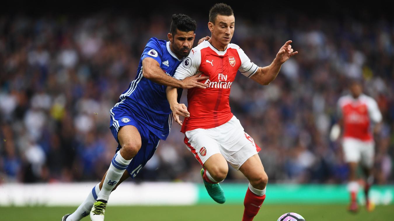 Diego Costa, Chelsea and Laurent Koscielny, Arsenal
