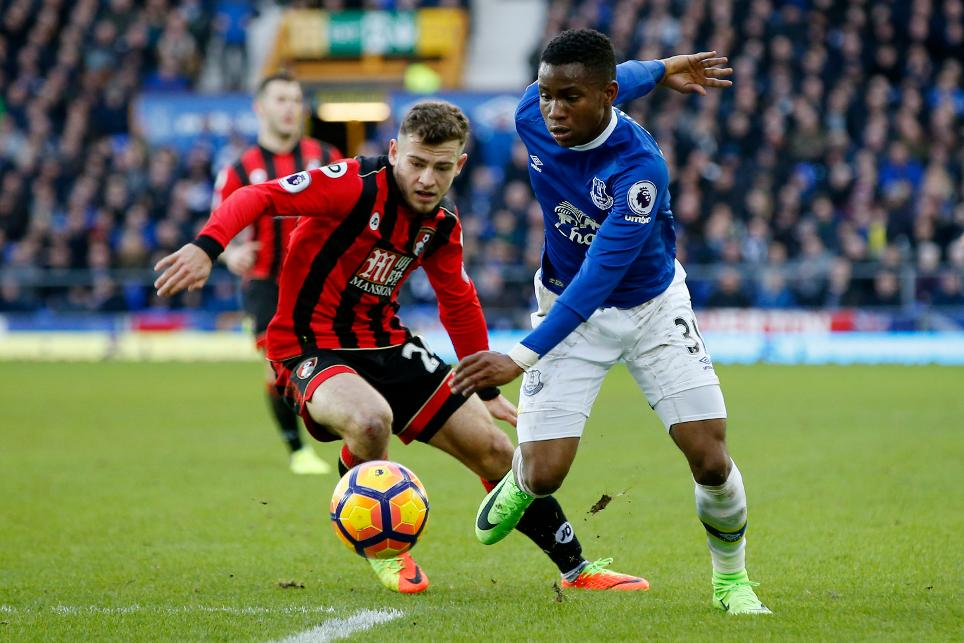 Everton's Ademola Lookman in action