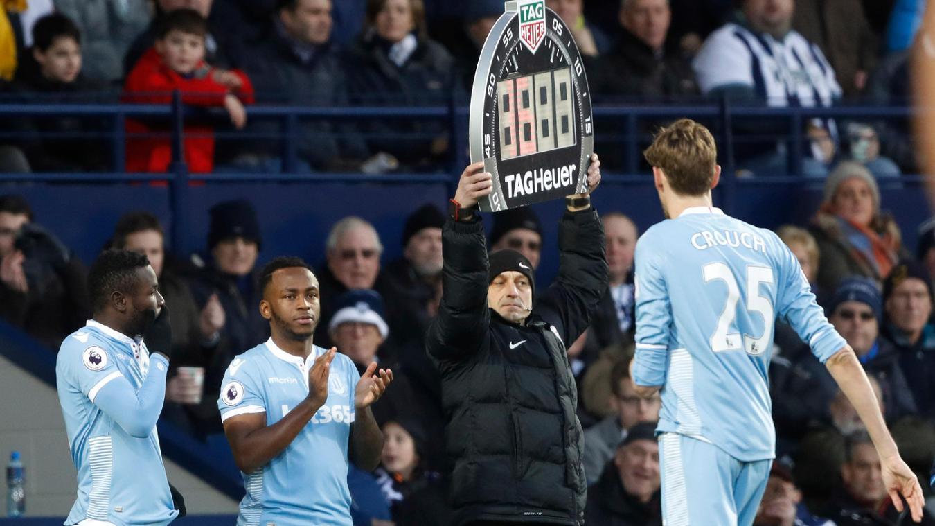 Stoke City's Saido Berahino, Peter Crouch