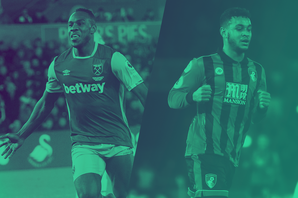 Michail Antonio, West Ham, and Josh King, AFC Bournemouth
