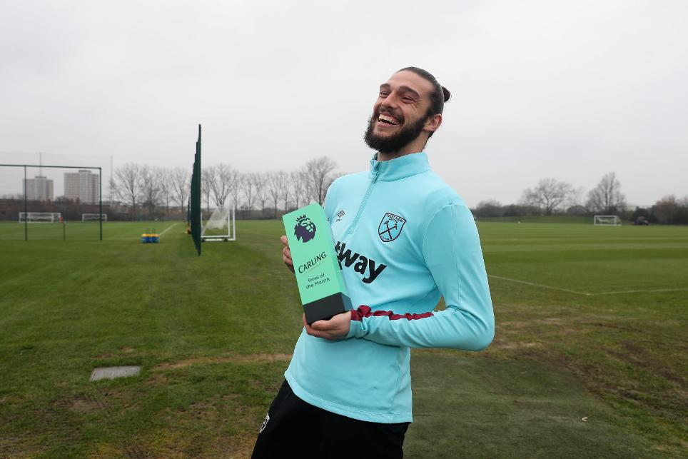 Andy Carroll wins Carling Goal of the Month for January