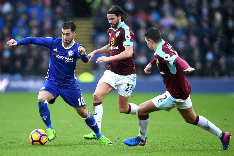 Burnley v Chelsea, Eden Hazard