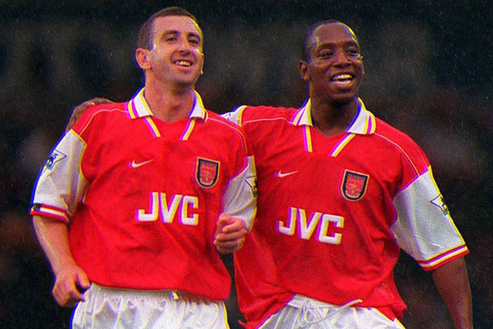 Nigel Winterburn and Ian Wright, Arsenal