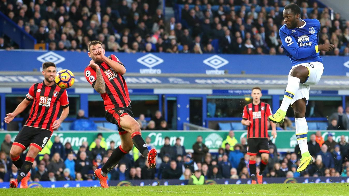 Everton v AFC Bournemouth - Romelu Lukaku scores