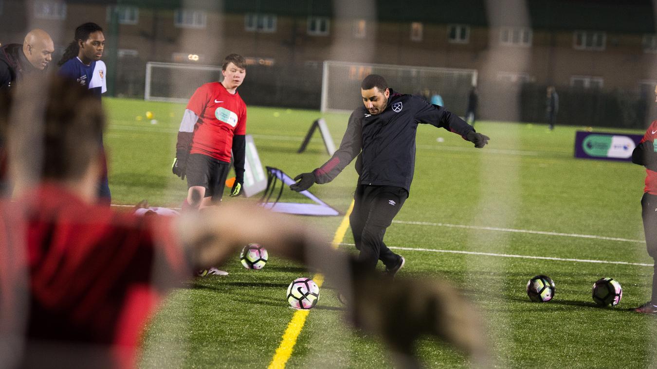 Premier League/BT Disability Fund, West Ham United, Hakeem Ranger, 240217