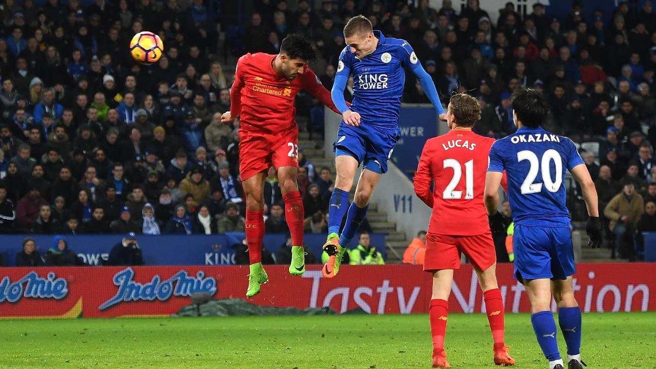 Jamie Vardy goal v Liverpool