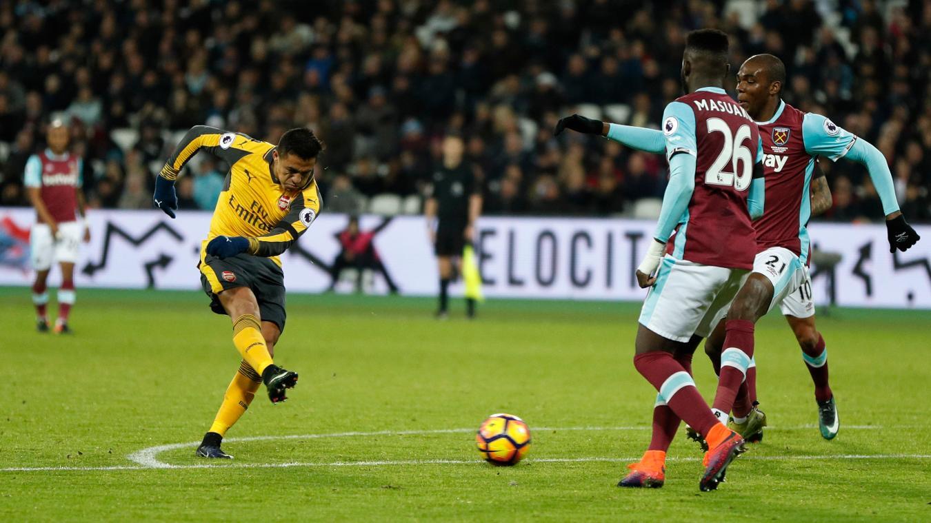 Alexis Sanchez goal v West Ham