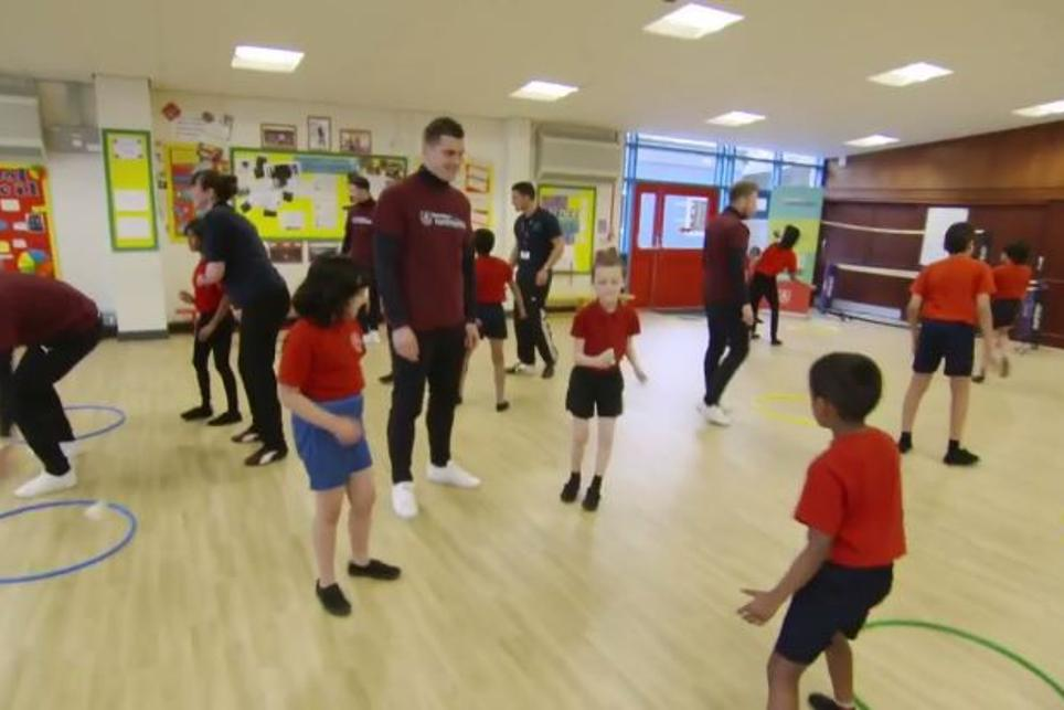 Burnley school sport session