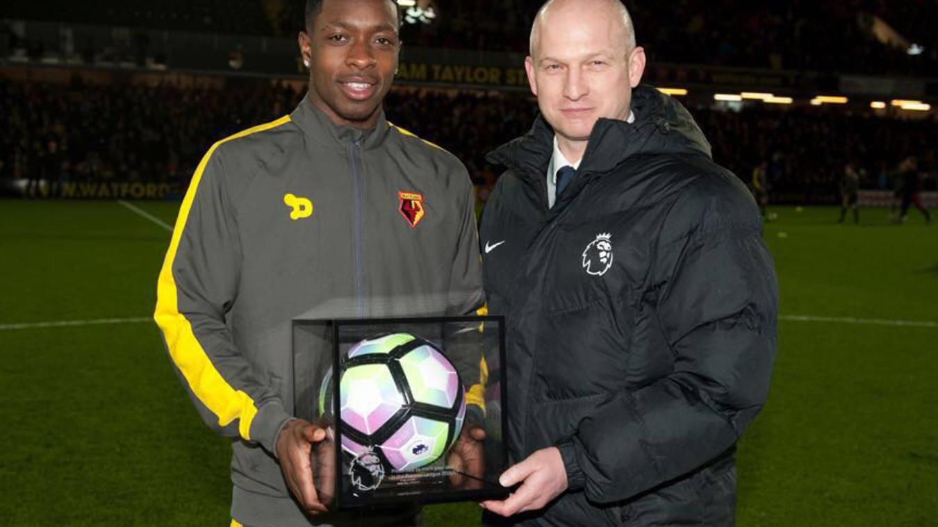 Michael Folivi with his PL Debut Football