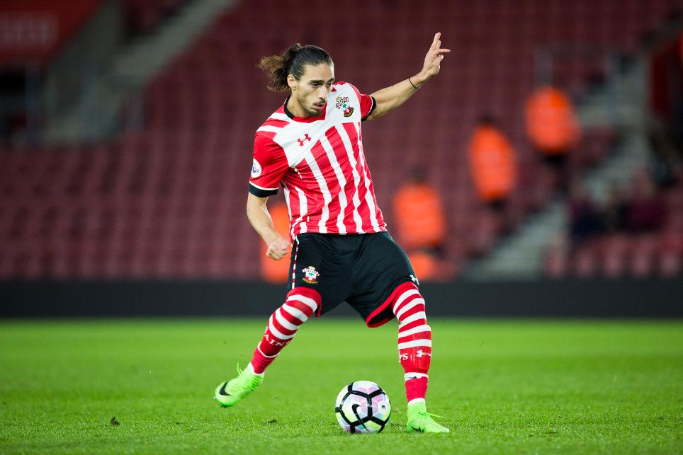 Martin Caceres in action for Southampton's PL2 side
