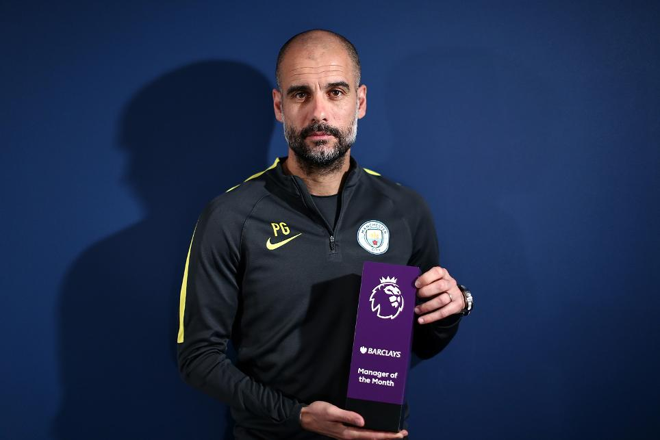 Pep Guardiola, Manchester City, Barclays Manager of the Month