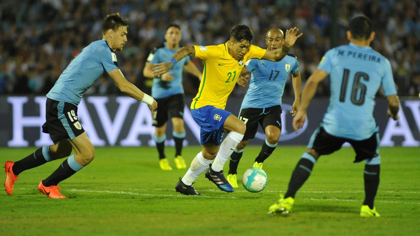 Roberto Firmino, Uruguay v Brazil