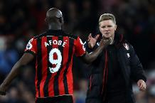 Eddie Howe and Benik Afobe, AFC Bournemouth