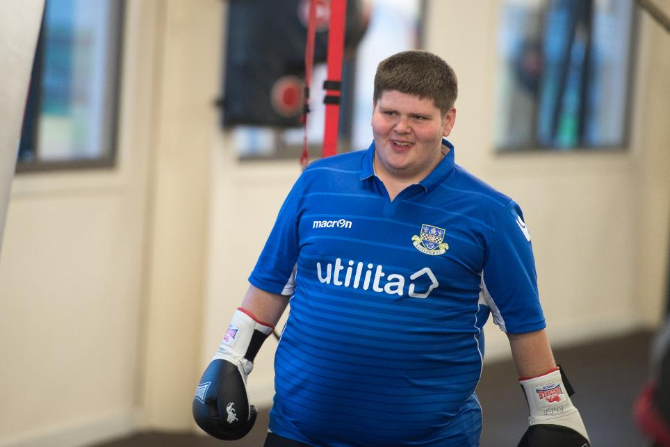 Mark Grout, Southampton fan and boxer at Saints Foundation