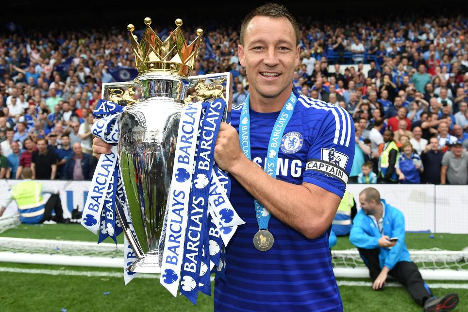 John Terry with the Premier League Trophy in 2015