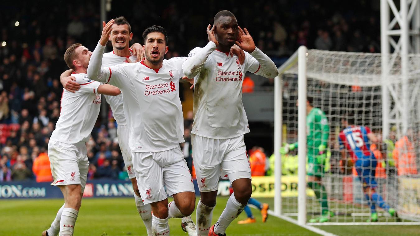 Christian Benteke scores for Liverpool