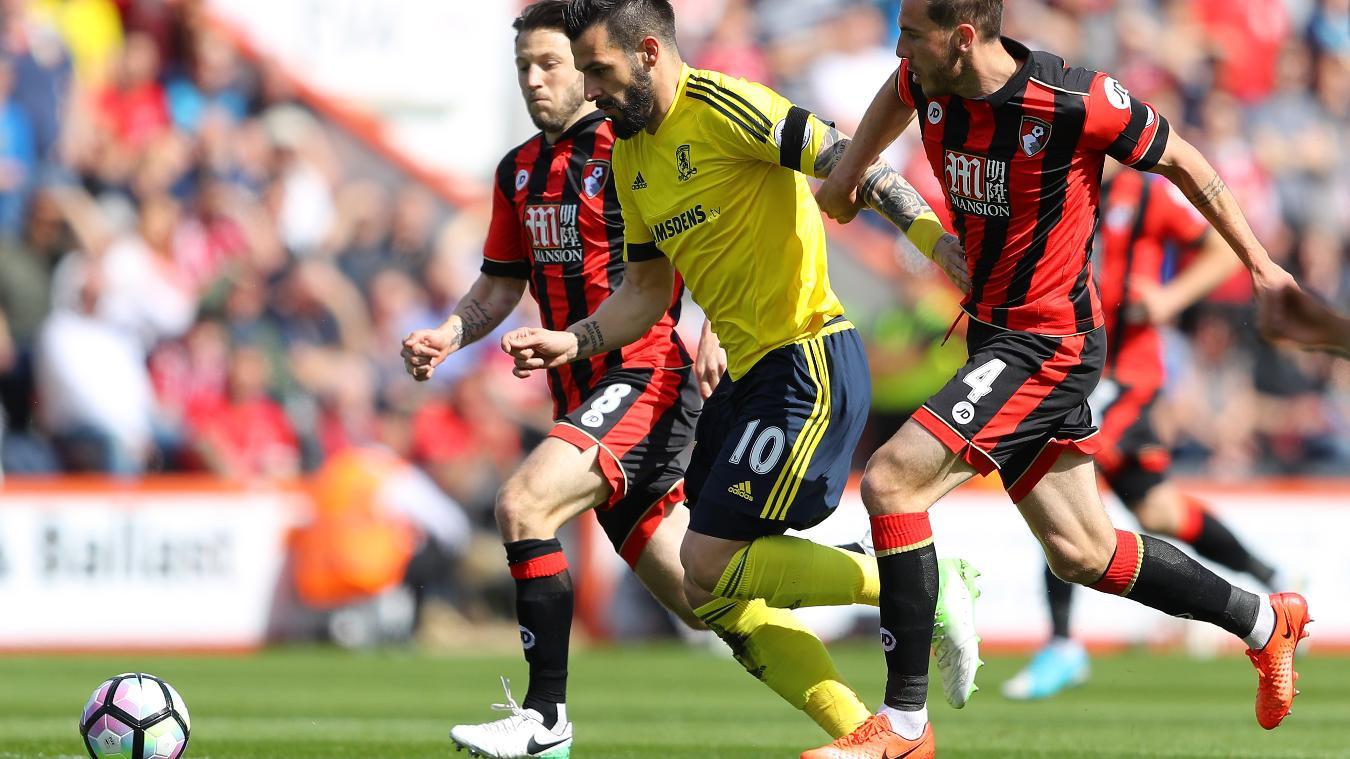 Alvaro Negredo, AFC Bournemouth v Middlesbrough