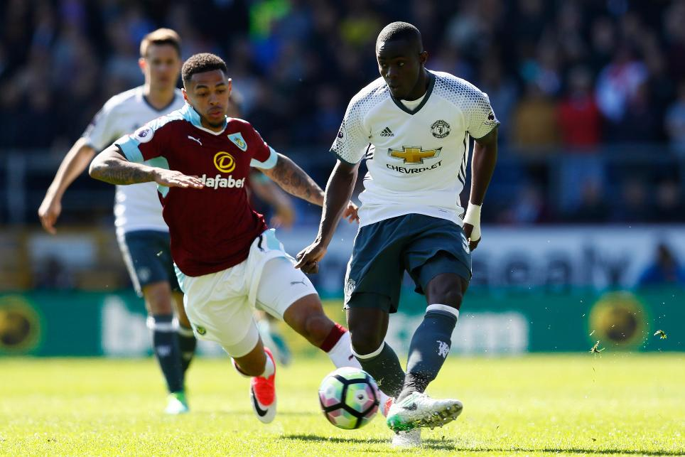 Eric Bailly in action against Burnley