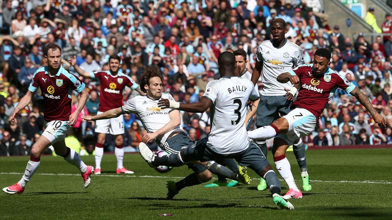 Daley Blind tackle against Burnley