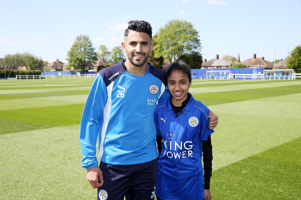 Marriam Rowel, Riyad Mahrez, PL Kicks Heroes, Leicester City