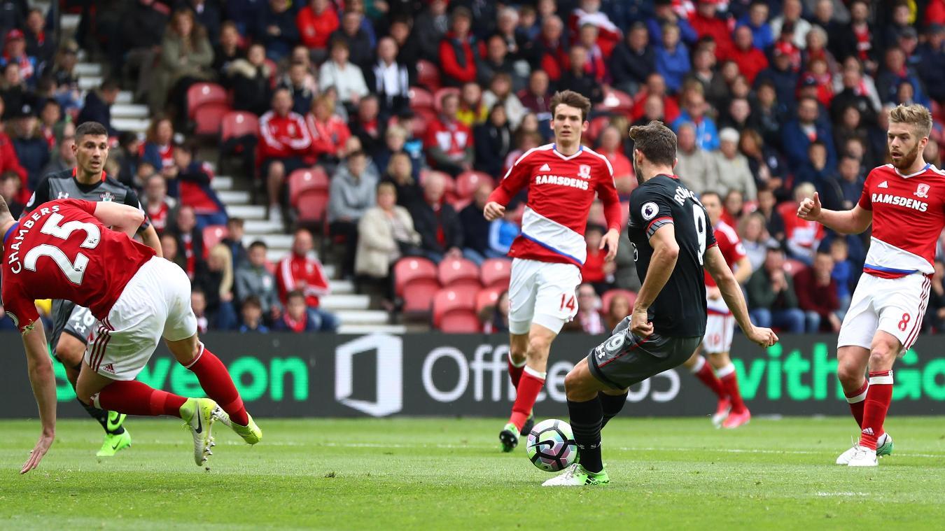 Middlesbrough v Southampton, Jay Rodriguez goal