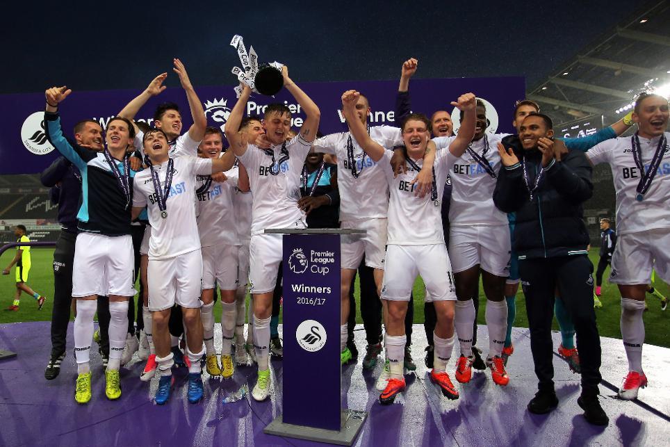 Swansea City lift Premier League Cup