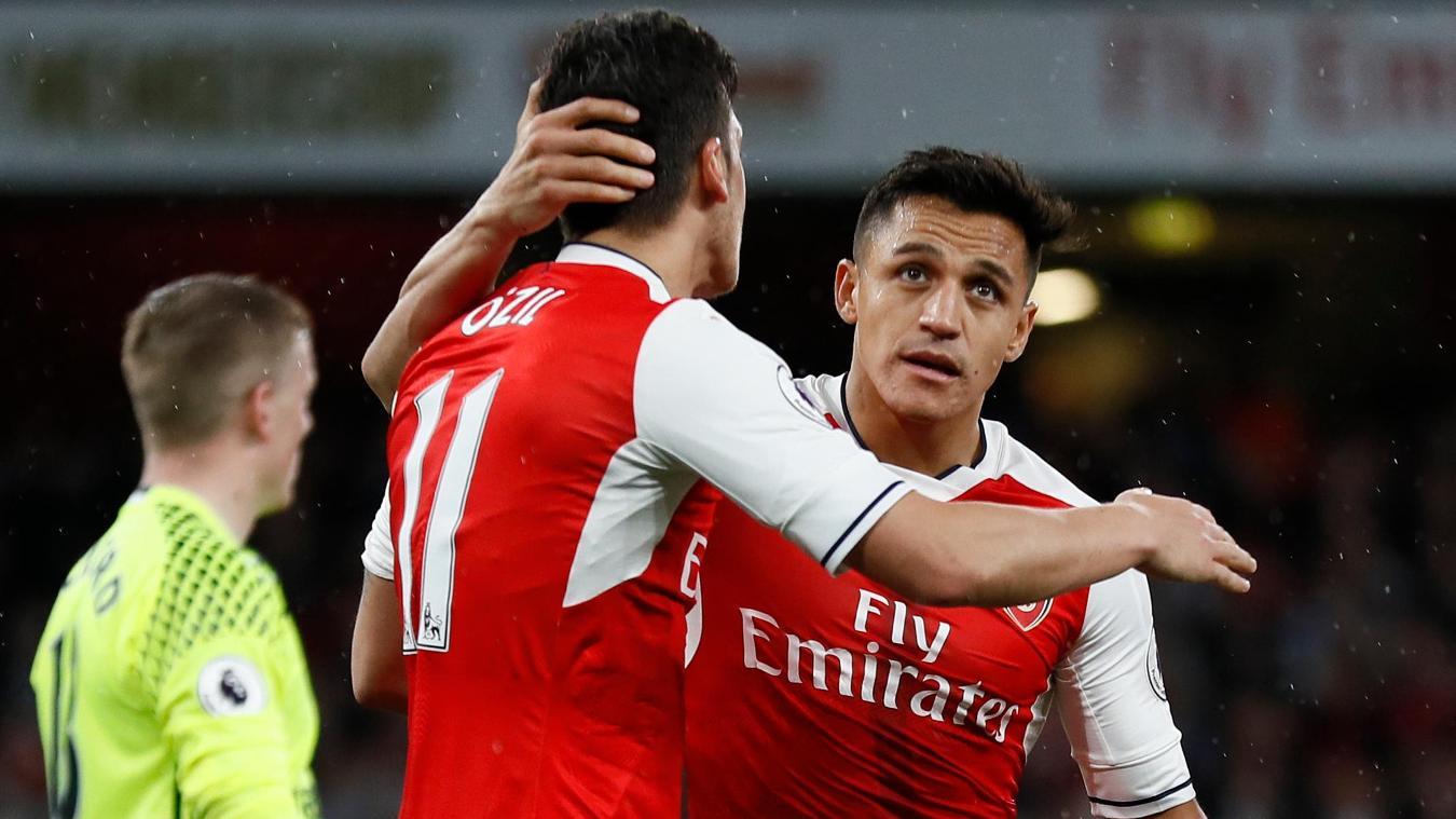 Alexis Sanchez and Mesut Ozil, Arsenal