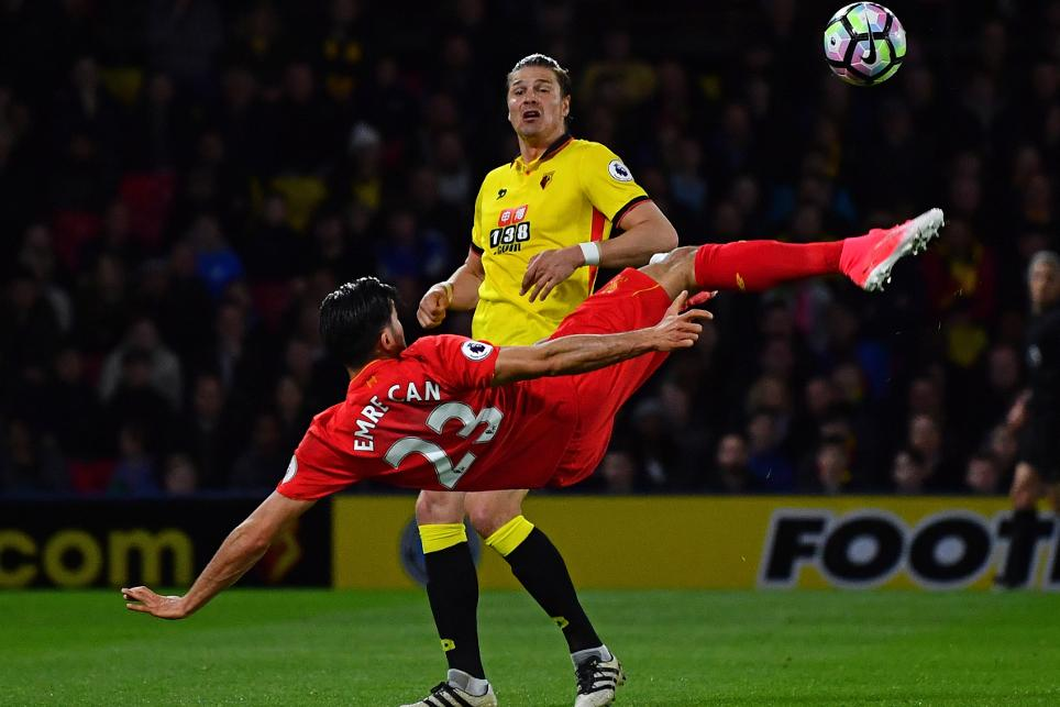 Emre Can goal v Watford for Liverpool