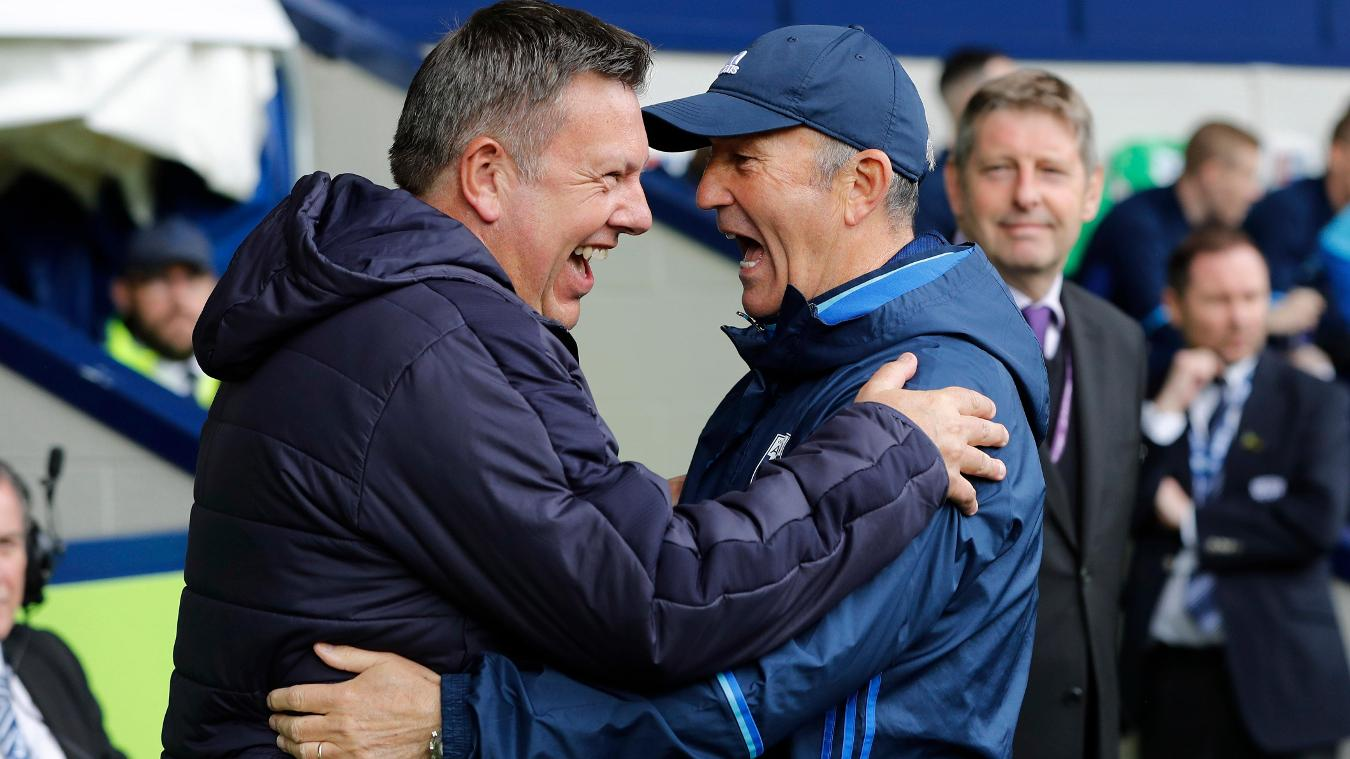 Leicester City manager Craig Shakespeare and West Bromwich Albion manager Tony Pulis