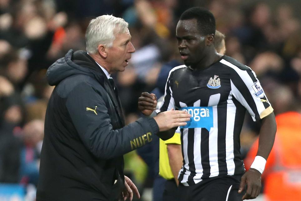 Cheick Tiote and Alan Pardew