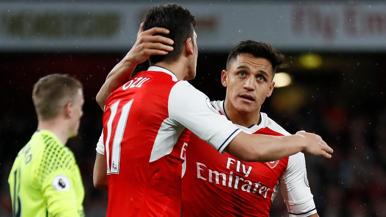 Sanchez and Ozil