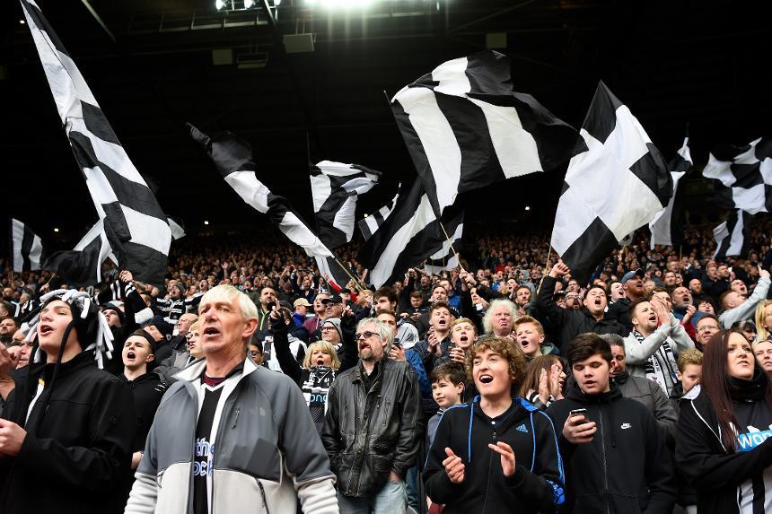 Newcastle fans celebrate