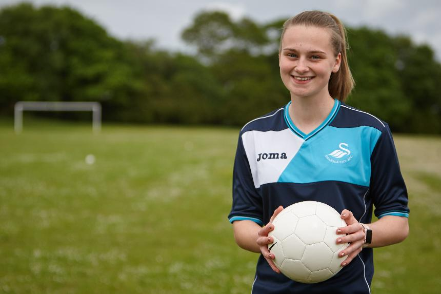 Within a year of joining Swansea City's Premier League Girls Football programme, Hannah Thomas was playing at the highest level of women's football