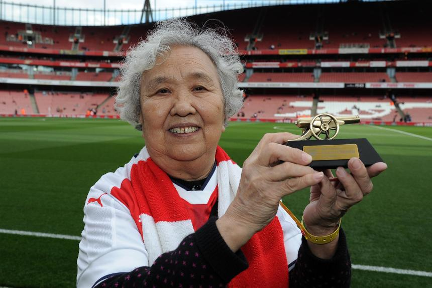 With interest in the Premier League growing around the world, 79-year-old 'Granny Liu' was voted China's biggest Premier League fan this season