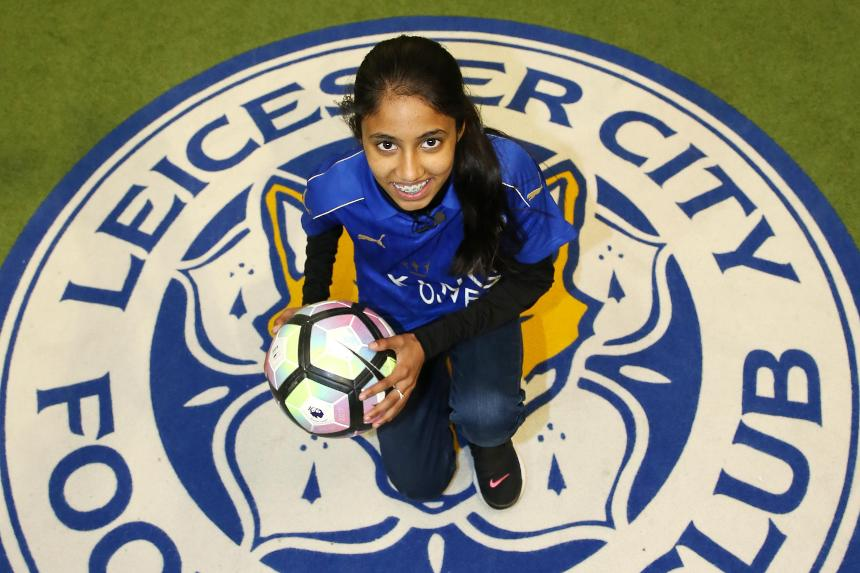 14-year-old Marriam was nominated by Leicester City to be their Premier League Kicks Hero