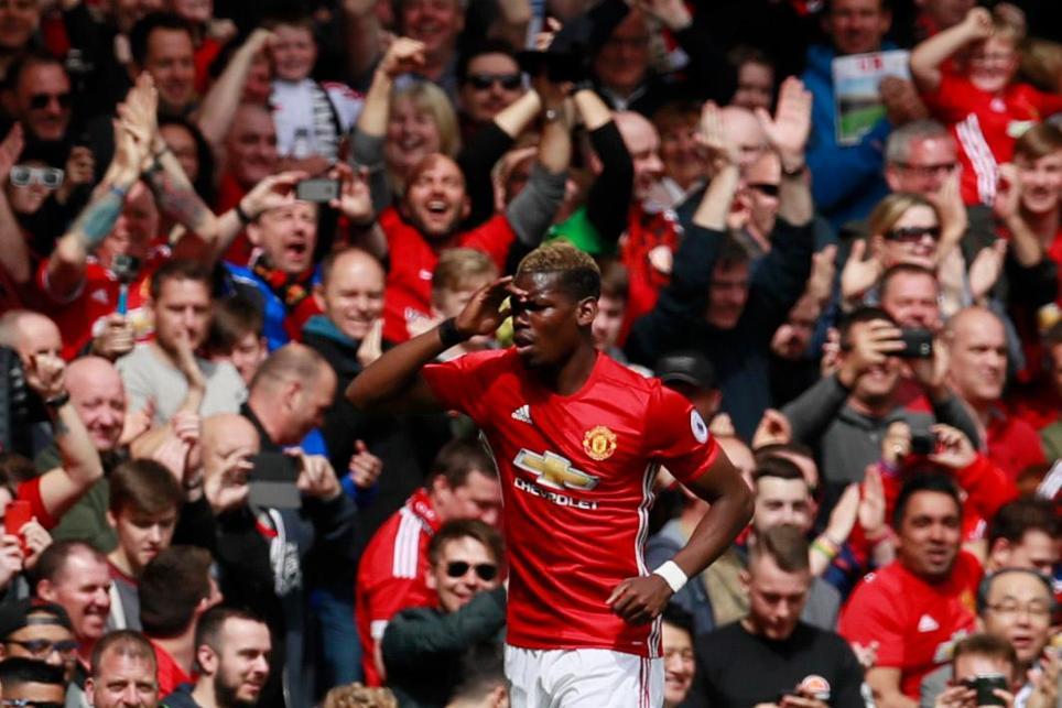 Manchester United's Paul Pogba celebrates