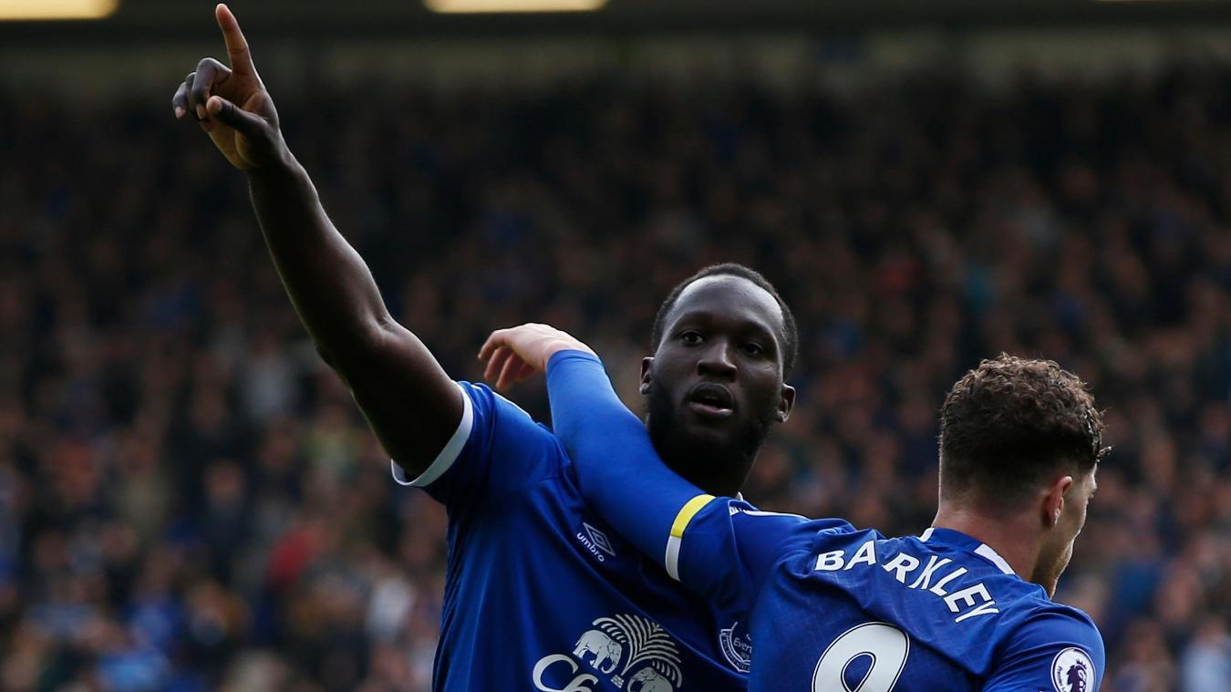 Everton's Romelu Lukaku and Ross Barkley