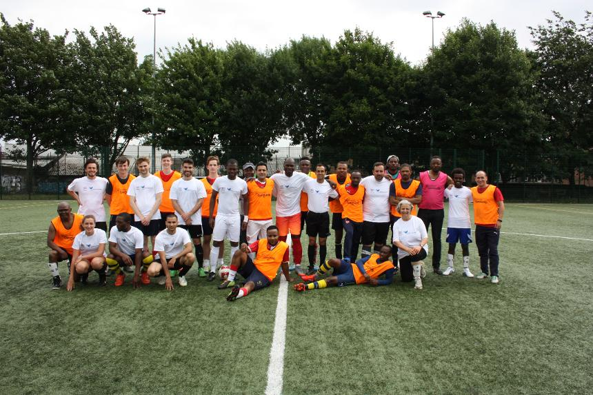 Arsenal in the Community, Refugee Week match at Market Road