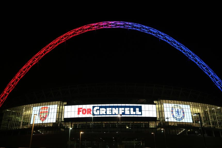 Wembley Stadium Arch, Grenfell Tower